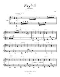 adele sheet music skyfall adele piano accompaniment piano plateau sheet music