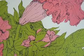 1975 USA Litho Wendy Wheeler Gloxinia & Christmas Cactus Lithograph Art  Prints | #1781090400
