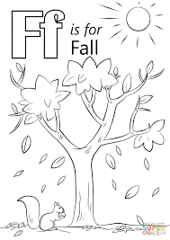 Small Picture Letter F is for Fall coloring page Free Printable Coloring Pages