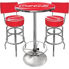 pub tables bar stools kotulas com vintage coca cola table and stool with back combo
