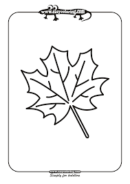 Small Picture Leaf Six Simple leafs Easy coloring pages for toddlers