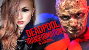 deadpool transformation fx makeup tutorial