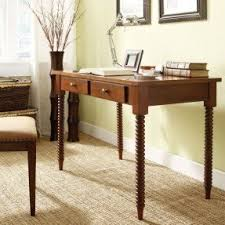 table 30 inches high. ethan home clare mahagony helix legs 2-drawer office writing desk table 30 inches high i