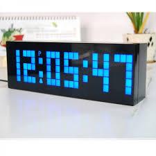 digital large big jumbo led snooze wall desk alarm clock calendar