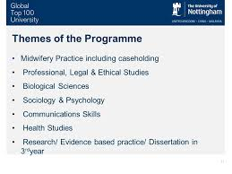 entry to midwifery jenny bailey pre registration midwifery  11 themes of the programme midwifery practice including caseholding professional legal ethical studies biological sciences sociology psychology