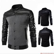 fashion winter autumn men s clothing jackets sweater long sleeve black gray men s jacket hooded casual slim outerwear coat plus size m 3xl