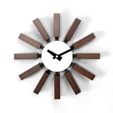 Block Clock - Walnut. Block WallGeorge NelsonWood ...