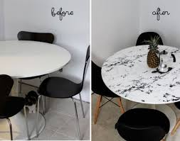 contact paper on furniture. View In Gallery Kitchen Table With Marble Contact Paper On Furniture
