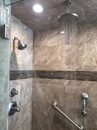 multiple shower heads. Brilliant Shower Walk In Shower With Ceramic Walls And Multiple Heads  Bathroom  Inside P