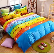 unique affordable colorful striped kids designer bedding sets