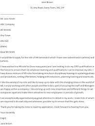 Cover Letter For Hr Hr Generalist Job Application Cover Letter Example