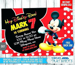 Make Your Own Mickey Mouse Invitations Birthday Invitation Maker Tagbug Invitation Ideas For You