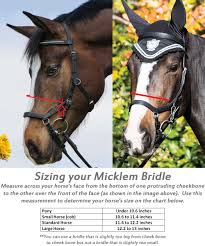 Rambo Micklem Competition Bridle W Rubber Reins