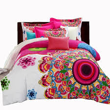mandala duvet cover sets bohemian style boho print bedsheet duvet cover pillowcase double bed king size bedding set sports bedding french country
