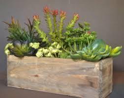 Cedar Wood Succulent Planter Box, Rustic Planter, Wooden Vases, Rustic