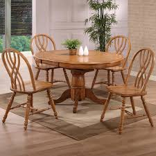 Eci Furniture Dining Solid Oak Single Pedestal Dining Table With