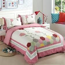 quilt bed sets cotton patchwork quilt set applique fl bedspread bed cover quilted bedding set duvet