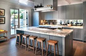 wide plank wood countertops cottage kitchen with gray cabinets white marble and wide plank wood floors wide plank wood countertop