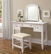 homestyles naples white vanity dressing makeup table