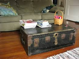 Mirrored Trunk Coffee Table Pair Of Square Industrial Mirrored Coffee Table With Glass Top And