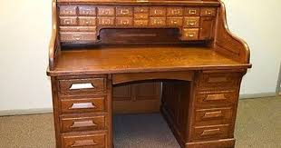 office furniture desk vintage chocolate varnished. gunn roll top desk c1890 grand rapids mich tiger u0026 quarter sawn oak 60 office furniture vintage chocolate varnished