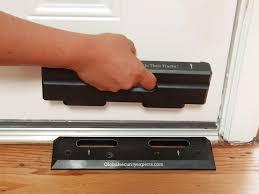 image of door stopper security bar design