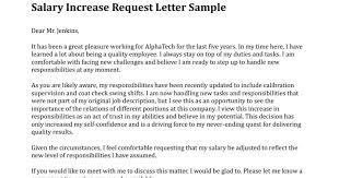 Sample Salary Review Letter Template Mymuso Co