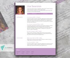 How To Do A Modern Resume Free Female Resume Template Purple Pop Freesumes