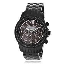 black diamond watches for men women mens black diamond watches by luxurman 2