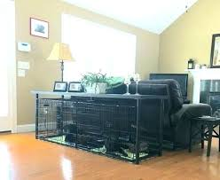dog kennel coffee table double crate console plans