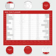 Details About 2020 Year Wall Planner Yearly Annual Calendar Chart A2 Size Large