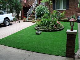 fake grass carpet green acres california small front yard landscaping