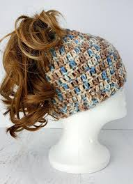 Crochet Bun Hat Free Pattern Delectable Easy To Crochet Messy Bun Hat AllFreeCrochet