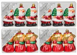 Weihnachtskugeln Kunststoff Figuren 3er Set Kreativmarkt Butterfly