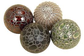 Decorative Sphere Balls Classy Ceramic Decorative Balls Set Of 32 Mor Furniture For Less