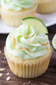 Coconut Cupcakes With Lime Buttercream Frosting Just So Tasty