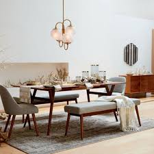 mid century dining room table throughout expandable west elm canada inspirations 14