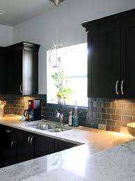 Dark Kitchen Cabinets With Light Granite Gorgeous A Big Phat Kitchen Update Decor Pinterest Kitchen Updated