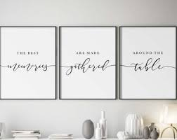 It sits nicely on the console table and creates an. Dining Room Wall Art Etsy