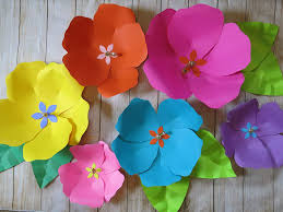 Chart Paper Flowers Step By Step Amazon Com Tropical Giant Paper Flowers Fully Assembled