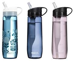 brita water bottle filter. Contemporary Filter Brita 237 Ounce Hard Sided Water Filter Bottles With 1 BPA Free 3  Colors Inside Bottle I