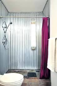 inexpensive shower wall options with half glass