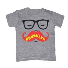 KIDS Brooklyn Mustache T-shirt Boy Girl Toddler Youth