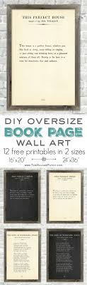 Oversize Book Page Wall Art {12 Free Printables} | 12 free printable  high-resolution book page wall art | Amazing set of free printable book  page q
