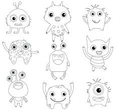Funny Monster Coloring Pages Free Monster Coloring Pages Monster