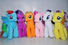 Набор 6 большие <b>мягкие игрушки май литл</b> Пони 33 см
