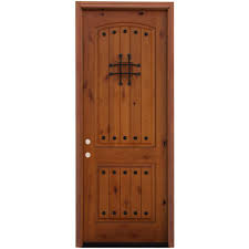 pacific entries 36 in x 96 in rustic 2 panel stained knotty alder