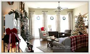 Xmas Living Room From My Front Porch To Yours Farmhouse Vintage Christmas Living Room