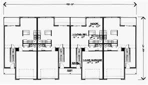 Triplex Plans Small Lot House Plans Row House Plans T413 Quadplex Plans