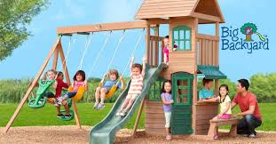 Big Backyard Wooden Swing Sets  Home Outdoor DecorationBig Backyard Ashberry Wood Swing Set